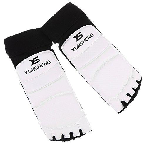1 Paar Taekwondo Fußschutz Schwammpolsterung Fuß Beschützer für Boxen, Muay Thai - L