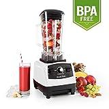 Klarstein Herakles 2G Batidora BPA-free - Mezcladora, Picadora, Licuadora, Smoothies sopas cremas, 1200 W, 28000 rpm, 2L, 6...