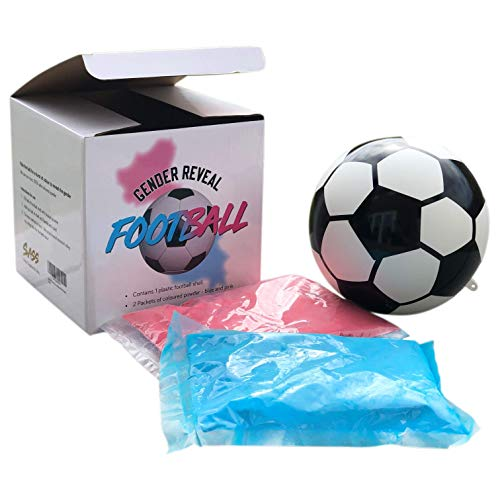 Sass Party & Gifts Gender Reveal Exploding Football/Soccer Ball - Includes Blue and Pink Powder