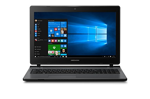 Medion Akoya P6669 MD 60111 39,62 cm (15,6 Zoll mattes Full HD Display) Laptop (Intel Core i7-6500U, 8GB RAM, 1000GB HDD, 128GB SDD, Nvidia GeForce 940MX Grafik 2GB GDDR3, DVD RW, Win 10 Home) schwarz
