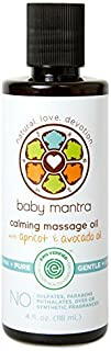 Baby Mantra - Massage Oil Infused with Natural Apricot & Avocado Oil for Newborns, Infants, Toddlers, and Kids with Sensit...
