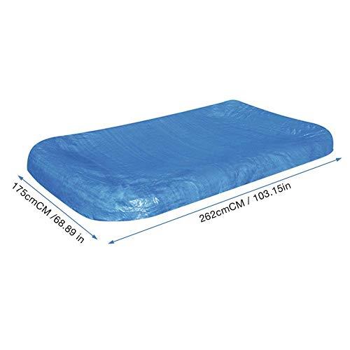 Abdeckplane Pool rechteckig Poolabdeckung Aufblasbare Poolabdeckung Regenfeste Staubabdeckung Verdickt Schwimmbad Zubehör 262 × 175cm