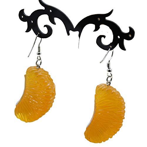 Pendiente Nueva Naranja Limón Tres Dimensiones Pendientes De Resina De Moda Verano Fruta Pendientes De La Joyería