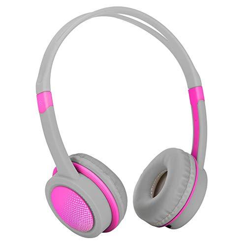 Bewinner-hoofdtelefoon voor kinderen - Hoofd-koptelefoon voor kinderen - 85 decibel voor gehoorbescherming - Automatische volumebegrenzer - Voor kinderen van 4 tot 12 jaar (roze)