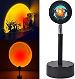 NARFIRE Sunset Projection LED Lamp 180° Rotation Sunset Red Light Projector Romantic Lamp for Bedroom Party Photo Props