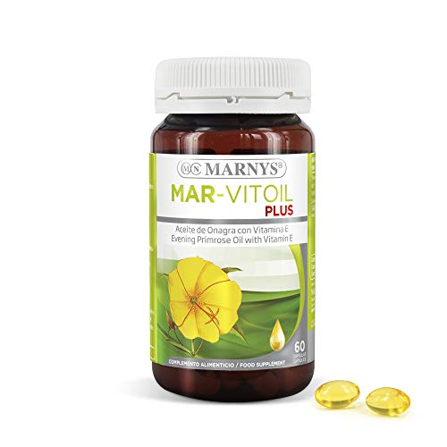 Marny's Mar-Vitoil Aceite de Onagra GLA Bienestar Metabólico para la Mujer 60 Cápsulas 1050mg