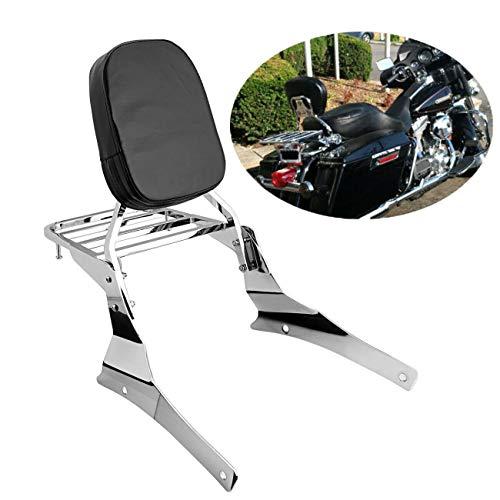 Ambienceo Motorcycle Motorbike Sissy Bar Rear Backrest Luggage Rack Service Lifts Kit