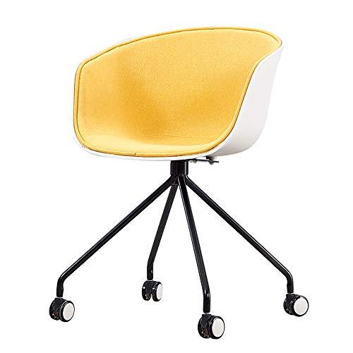 HSRG Draaibare fauteuil Computer bureaustoel High-Back Zachte stoel bureaustoel Executive en Ergonomische stijl Gaming stoel met rugleuning Geel