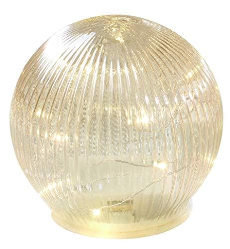Bola de cristal color ámbar con luces LED, funciona con pilas, diámetro de 15 mm