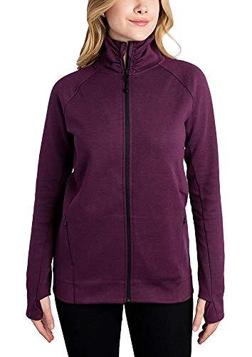 Kirkland Signature Ladies Full Zip Jacket (Purple, Large)