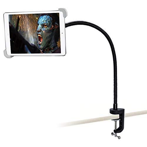 woleyi Soporte Cama Escritorio Tableta para 9.5-14.5 Tableta, 360° rotación Metal Soporte con Cuello Cisne para iPad Pro iPad Air, Samsung Galaxy Tab, Kindle Fire HD, Huawei MatePad, Lenovo Tab etc