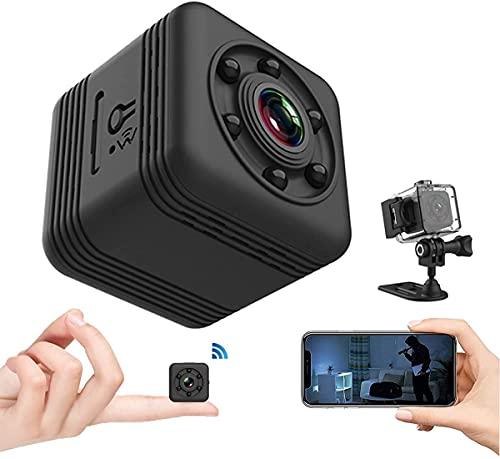 Mini Telecamera Spia Nascosta, HD 2K Portatile Micro Cop Spy Cam con Sensore di Movimento,Visione Notturna y Batteria,Senza Fili Piccola Video Sorveglianza Microcamera Spia Esterno Interno