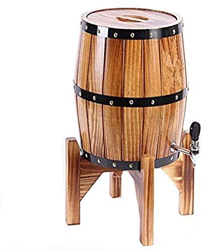 QZMX Decantador Barriles de Vino Vertical, Roble envejeciendo barriles Whisky Barrel Dispenser Bucket Sin Fugas para el Almacenamiento Vino y licores y Whisky, Decantador de Vino de Cristal