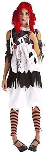 Rubie's Costume Co Gothic Ragdoll Girl Adult Costume, Multicolor