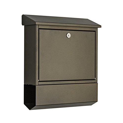 Heibi Briefkasten mit Zeitungsfach, mokkabraun