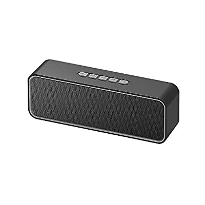 Sonkir Portable Bluetooth Speaker, TWS Bluetooth 5.0 Wireless Speaker with 3D Stereo Hi-Fi Bass, Built-in 1500 mAh Battery, 12H Playtime (Grey) by Sonkir