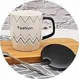 LAIDEPA Tazza caffè in Ceramica Forma Diamante Creativa Semplice Carina Cartone Animato Moda Resistenza alle Alte Temperature Divertente novità Regalo,A