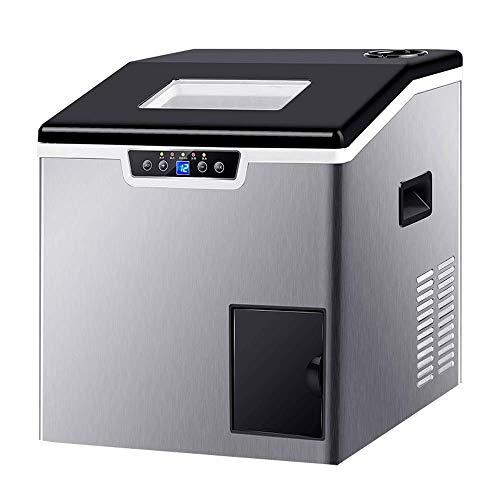 WCY Kleiner Haushalt Eismaschine, Gewerbe Eismaschine, kann 40KG Eiswürfel Make In 24 Stunden, mit EIS-Speicher-Korb Design, geeignet for Küche, Haus Bar yqaae