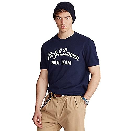 Polo Ralph Lauren Camiseta para Hombre Polo Team 566405 (M, Cruise Navy)