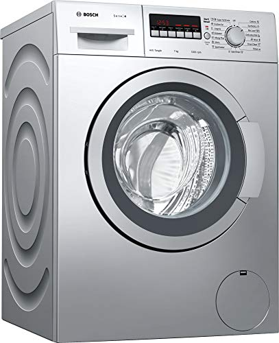 Bosch 7 kg Fully-Automatic Front Loading Washing Machine (WAK2426SIN, Silver, Inbuilt Heater)