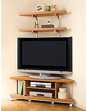 家具 収納 リビング収納 テレビ台 コーナーテレビ台 テレビ上の空間を有効活用できるシリーズ コーナー用テレビ台 幅90cm・棚2段 591012