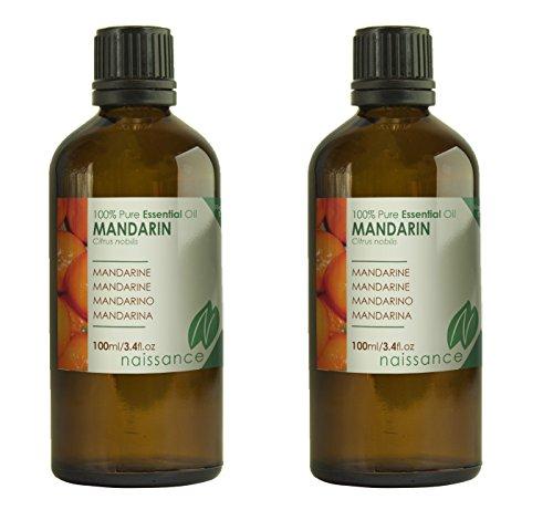 Naissance Olio Di Mandarino – Olio Essenziale Puro Al 100% - 200ml (2x100ml)