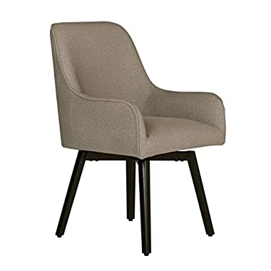 Studio Designs Home Contemporary Spire Luxe Swivel, Rotating, Upholstered, Accent Dining/Office Chair with Arms and…
