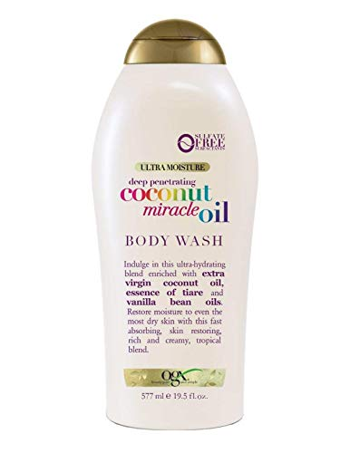 Ogx Body Wash Coconut Oil Miracle 19.5 Ounce (577ml) (2 Pack)
