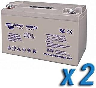 Victron Energy - Set 2 x Batería 220Ah 12V GEL Deep Cycle Victron Energy Fotovoltáico Cámper - BAT412201104x2