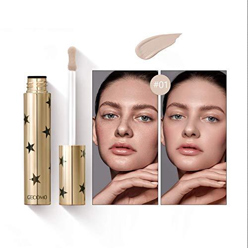 Mimore Liquid Concealer Makeup Ideale per tutti i tipi di pelle,Correttore colore brillante 24HR, Correttore di bellezza impermeabile a prova di sudore - 3 colori (01)