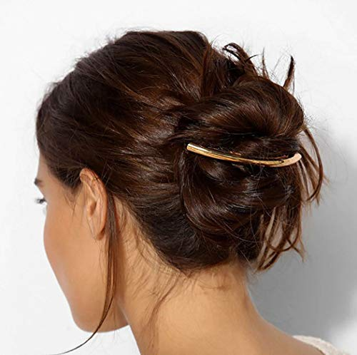 CanB Vintage Golden Alloy Hair Clip Minimalist Hair Barrette Hair Pin Hair Accessories for Women and Girls