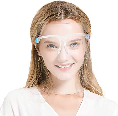 Visiera Protettiva Trasparente Schermi Facciali Maschera Protezione Viso Occhi Face Shield Mascherina Scudo Facciale Plastica Apet Uomo Donna Bambino Cucina Occhiali Anti-oil Estetista Parrucchiere
