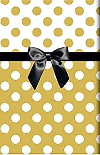 Extra Long Metallic Gold Foil and White Polka Dot Double Sided Gift Wrap Wrapping Paper Large 18ft Roll