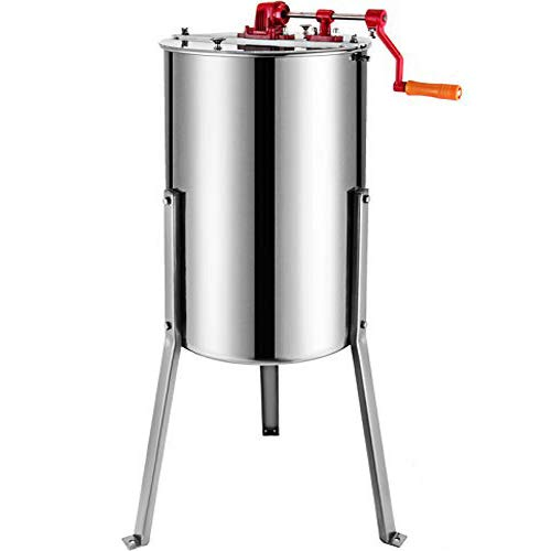 BestEquip Manual Honey Extractor Separator 3 Frame Bee Extractor Stainless Steel Honeycomb Spinner Crank. Beekeeping Extraction Apiary Centrifuge Equipment