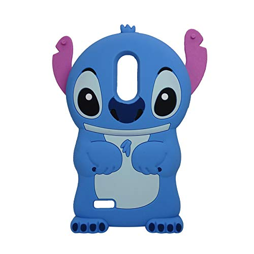 for LG Tribute Dynasty,Rebel 4,Rebel 3 LTE,Phoenix 4,Aristo 3,Aristo 2 Plus,Risio 3,Zone 4,Fortune 2,K8 Plus 2018, for LG K9 Blue Stitch Case Cute Soft Silicone Kawaii Cover (Stitch)