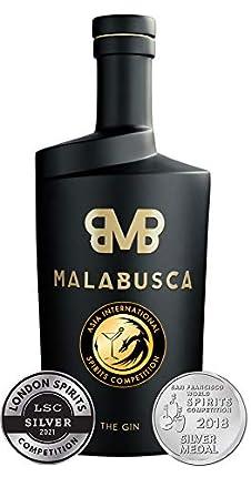 Malabusca Gin 700 ml - Ginebra Española del Año 2021 Asian International Spirits Competition y Medalla de Plata en el Concurso Mundial SFWS 2018 Botella Ginebra Premium Española