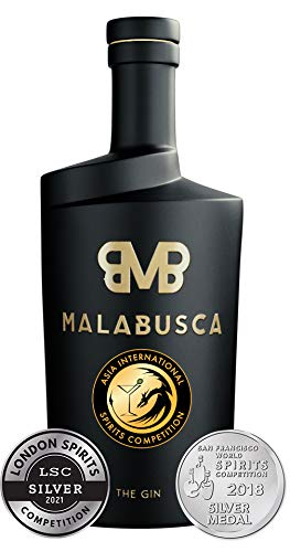 Malabusca Gin 700 ml - Ginebra Española del Año 2021 Asian International Competition y Medalla de Plata en Londres 2021 y San Francisco 2018 Botella Ginebra Premium. Sin caja individual