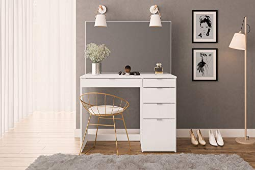 Birlea Furniture Dressing Table, Engineered Wood, White, One Size
