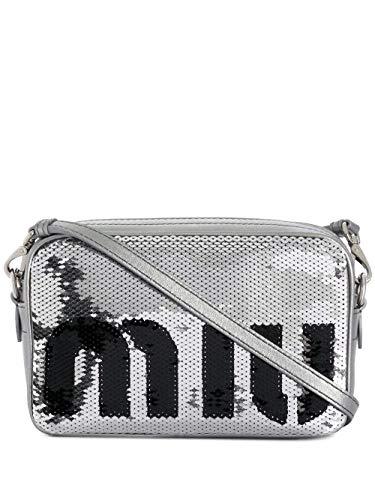 Miu Miu Luxury Fashion Damen 5BH118959F0Q07 Silber Schultertasche | Jahreszeit Outlet