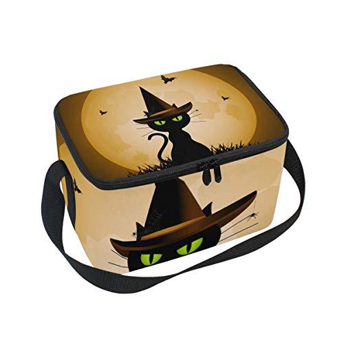 Bolsa de almuerzo con diseño de gato de brujas