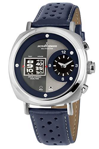 Jacques Lemans Herren-Armbanduhr Chronograph Lugano 1-2058B