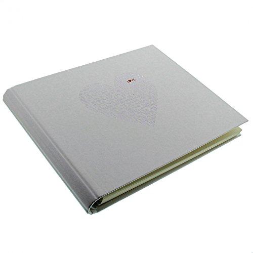 Goldbuch Foto-Gästebuch mit verdeckter Spirale, Love, 29 x 23 cm, 50 weiße Blankoseiten,...