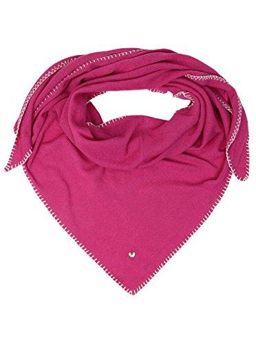 Zwillingsherz Zwillingsherz Dreieckstuch mit Kaschmir - Hochwertiger Schal mit Häkelrand für Damen Jungen Mädchen - XXL Hals-Tuch und Damenschal - Strick-Waren für Sommer Herbst Winter 150cm x 120cm - pink