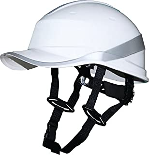 Delta Plus Venitex Baseball Diamond V Up Hard Hat Safety Helmet Bump Cap With Harness PPE (White) Color: White, Model: DIAMONDVUP, Outdoor & Hardware Store