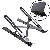 YINKUU Laptop Ständer, Tablet ständer 6 höhenverstellbar laptopständer für 11-17 Zoll Laptop Tablet Space Grey