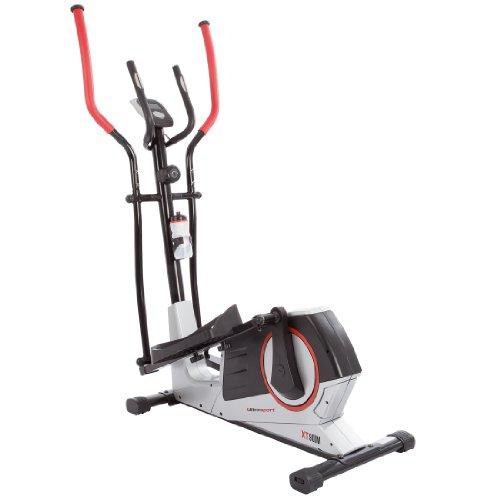 Ultrasport XT-Trainer 900M cross trainer/elliptical trainer with hand pulse sensors, incl. drinking bottle