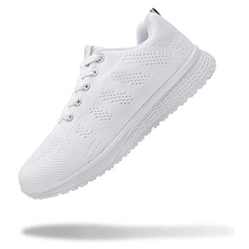 [WYSBAOSHU] スニーカー メンズ レディース ウォーキングシューズ 軽量 ランニングシューズ 疲れない ナースシューズ 運動靴 ウォーキング 男の子 女の子 中学生 白い靴 白い 白 ホワイト 22.0 cm