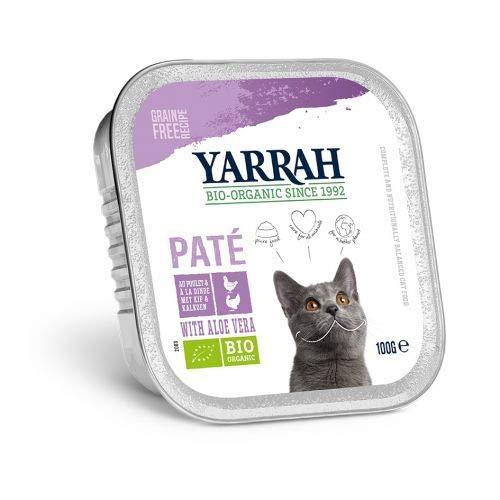 Yarrah cat kuipje wellness pate kip/kalkoen aloe vera kattenvoer 100 GR
