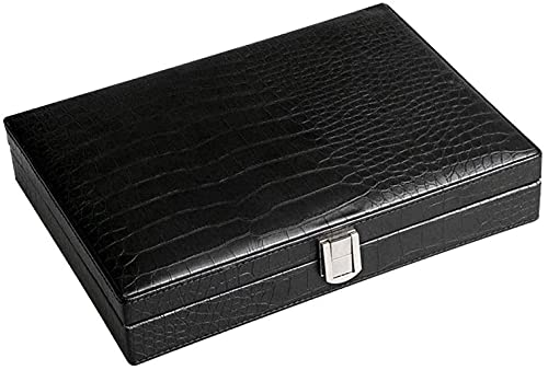 FHISD Juego para Fumar/Accesorios para cigarros Caja de cigarros de Cuero de Viaje portátil Portátil, Humidor de cigarros Maleta con higrómetro y humidificador Caja decorativ