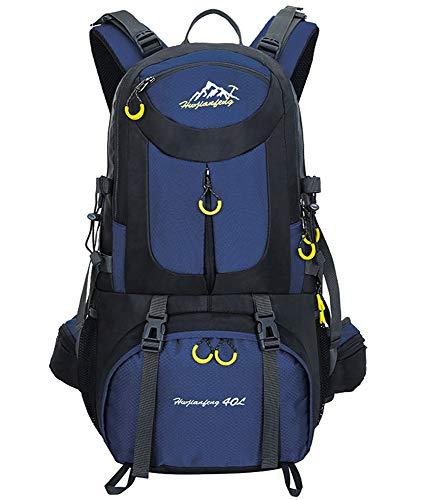 Mochilas de Senderismo al Aire Libre - Mochila de Senderismo Impermeable Macutos Ergonómica Viajes Excursiones Acampadas Trekking, Profundo Azul, 40L
